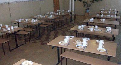 Школьная столовая Обеденный зал